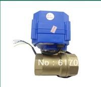 motorized ball valve.220v.2 way. DN20.electrical valve.motorized valve  /freeshipping