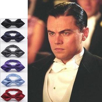solid color men's polyester bowtie neck tie
