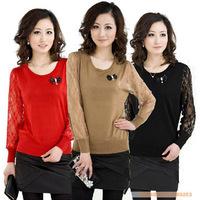 Free shipping 2013 women's irregular long-sleeve cape outerwear sweater