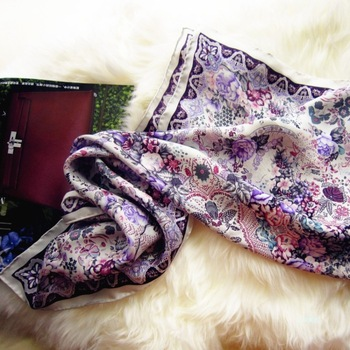 Women's silk scarf mulberry silk large quality gift facecloth silk scarf silk