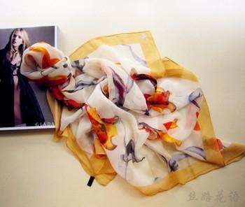 Women's silk scarf mulberry silk silk scarf silk georgette large facecloth