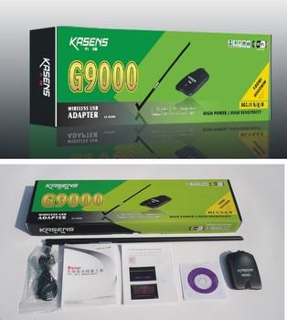 Free Shipping High Power KASENS G9000 6000MW 54Mbps 802.11b/g Wireless USB 2.0 Network Wifi Card Adapter Ralink 8187L