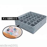 30 Grids Bamboo Charcoal Underwear Panties Storage Box Organiser HQS-Y34050
