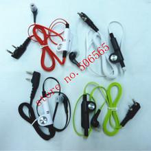 colorful in-ear earphone/earpiece for two way radio/walkie talkie suit for baofeng quansheng.fashion,comfortable free shipping