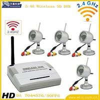 2.4Ghz SD Card Wireless DVR kit with wireless camera  +4pcs wireless cameras