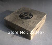 Rare, Chinese Bronze Engraving Inkstone