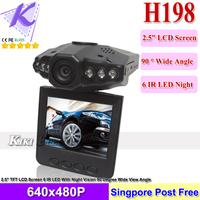 Car DVR H198 Cheapest Car Camera Russia Language Car Black Box Free Shipping