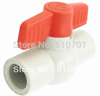 "Pipe Fittings 25mm Water Shut Off PPR 3/4"" Slip x 3/4"" Slip Ends Full Ports Plastic Ball Valve Water Supply Waste Treatment Weld(China (Mainland))"
