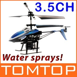 Free shipping Water Spray Helicopter 3.5 Channel RC Infrared Control Blue ,drop shipping Wholesale(China (Mainland))