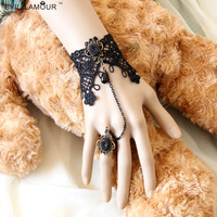 2014 A560 Min $10,mix Order Free Shipping Retro Lace Bracelet Ring Chain Fashion Wrist Flower Wedding Or Party Jewelry Ws-125