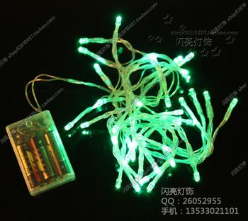 Led lights flasher battery lighting string flicker garden lights mantianxing string light holiday decoration