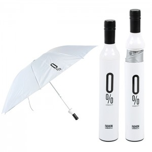 Fashion derlook bottle umbrella folding umbrella sun umbrella automatic umbrella blended-color