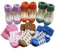 Winter baby towel socks relent socks loop pile socks dot socks