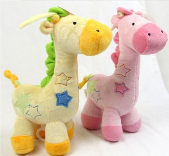 Carter's super soft giraffe bed bell music box bell pull two-color baby toys bed bell hanging bell 6pc/lot