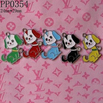 29mm Enamel Rhinestone Alloy Dog Charms Pendants,DIY Pet Jewelry Charms,Free Shipping Wholesale 500pcs/lot