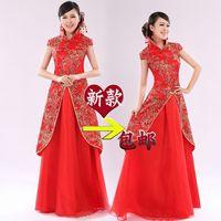 Bridal wear cheongsam chinese style formal dress cheongsam fashion evening dress cheongsam married dress