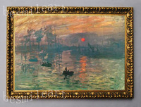 free shipping sunset  oil painting on canvas  By Claude Monet  reproductions not frame oil painting for sofa background
