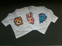 Cotton animal graffiti refreshing vest rabbit elephant lion children T-shirt Boys primer coat