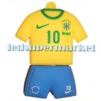 10pcs x  Football Brazil Jersey KAKA Fashionable style Model USB 2.0 Flash Memory Stick Pen Drive 2GB/4GB/8GB/16GB/32GB