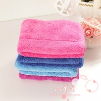 Double layer soft mop the floor cleaning towel coral fleece towel super absorbent wipes