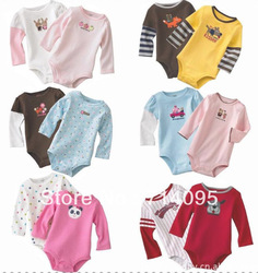 Baby romper 100% cotton animal Original more deigns boy&girl's long-sleeved 5pcs in pack 3-24M baby clothing freeShipping(China (Mainland))