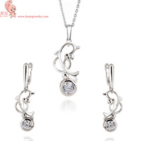 Free Shipping 18 K Gold Plate Mother Necklace&Earrings Set,Fashion Wholesale Jewelry DJE0029