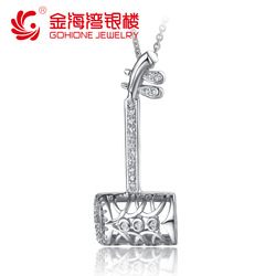 925 pure silver necklace erhu silver pendant female chinese style accessories national trend exquisite musical instrument female(China (Mainland))