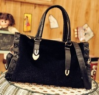2013 New designer  winter mink hair BOSS  handbag messenger bag female's bag  m06-066  women's bag designer handbag
