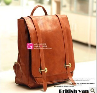 New Hots Korean Style Girl's PU Leather Backpack Handbag Shoulders Bag free shipping wholesale