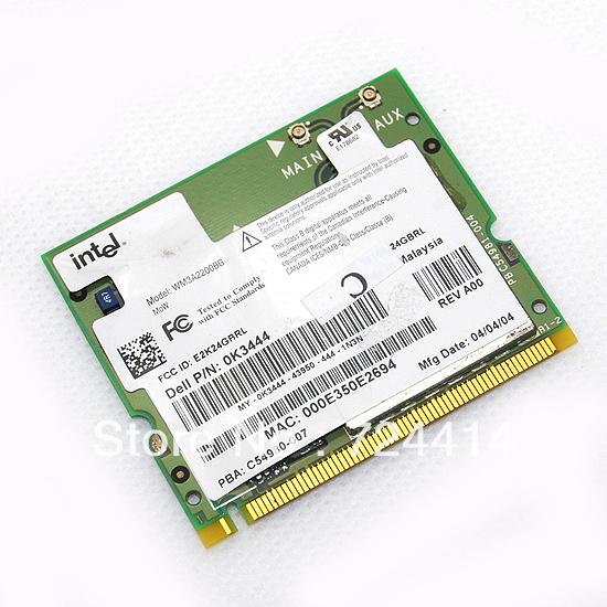 Intel PRO/Wireless 2200 BG Mini PCI WiFi LAN Card WM3B2200BG MOW for DELL Inter(China (Mainland))