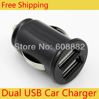 2-Port Dual USB Car Charger for iPhone 4s iPod ipad galaxy all phone 5V-2.1A - Mini Bullet
