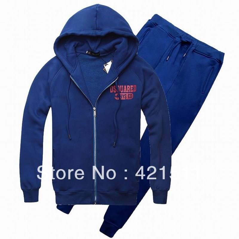 FREE SHIPPING 2013 New sportswear fashion men's hooded sweater coat Korean version of men casual sports suit jacket+pants(China (Mainland))