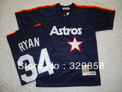 Free Shipping Authentic Throwback Baseball Jerseys Houston Astros #34 Nolan Ryan Jersey Wholesale Mixed Order Size M-3XL(China (Mainland))