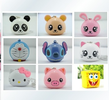 Cute animals portable speaker portable mini cartoon speaker MP3/MP4 / mobile phone audio