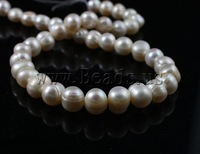Free Shipping 9-10mm white color A grade Natural Round Cultured Freshwater Pearl Beads 2013 DIY jewelry making accessories