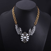 Min Order Is 15 $ Free Shipping Big European Retro Exaggerated Luxury Angel Wings Necklace Wholesale WomenBL3065