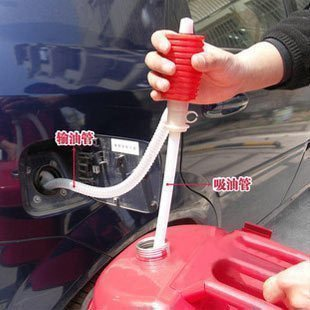 Portable Manual Car Siphon Hose Gas Oil Water Liquid Transfer Hand Pump Sucker(China (Mainland))