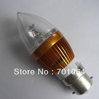 3X3W LED candle bulbs B22 High power 9W LED Bulb 10pcs/lot