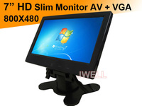 Good qulity 7 inch HD Car PC monitor With VGA Port free shipping by post