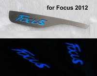 Free Ship for Ford FOCUS 2012 Main Driving Seat Insert Emblems Sticker Trim  Night Light function 1pcs- Blue