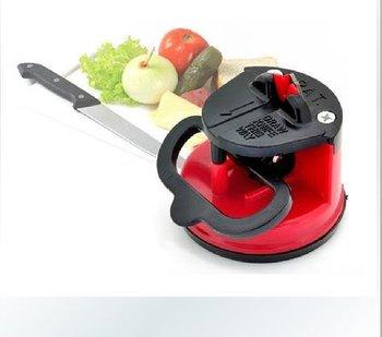 Free Shipping Home kitchen tungsten steel knife sharpener with a sucker 8575