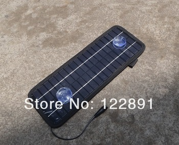 12V 4.5W Solar Charger Solar Panel /Battery Charger For Car/Mobile Phone/Other 12V Rechargeable Battery  2pcs/lot  Free shipping