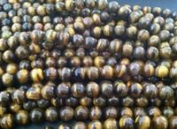10mm loose tiger eye round beads 390pcs/lot Free Shipping