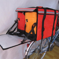 Food Delivery Box for scooter with 2 hot bags, foo deliveyr bags, keep hot, boxes for food take out