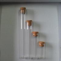 70ml 25*200mm glass tube, tubular glass bottles with cork, 24pcs