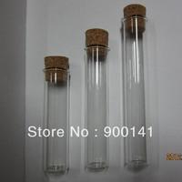 50ml 25*150mm glass tube, tubular glass bottles with cork, 24pcs