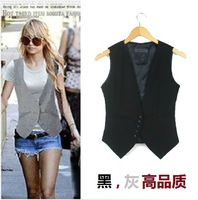 Free shipping , Plus size Fashion women suit Waistcoat , Causul Vest , Sleeveless Slim lady Vest , size S-XXXL