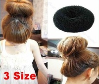 Min.order is $15 (mix order) Free Shipping 3pcs SIze S M L Hair Styling Donut Magic Sponge Bun Ring Maker Former Twist Tool