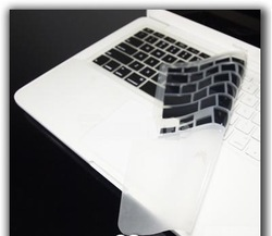 "FULL Black Keyboard Skin Cover Case for New Macbook White 13""(A1342,A1278),cover up palm rest area,free shipping(China (Mainland))"