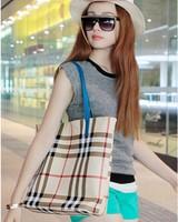New Arrival!Fashion Double Face usable Lady Handbag PU Leather Shoulder Bag Plaid women's Bags Wholesale Price #hs269